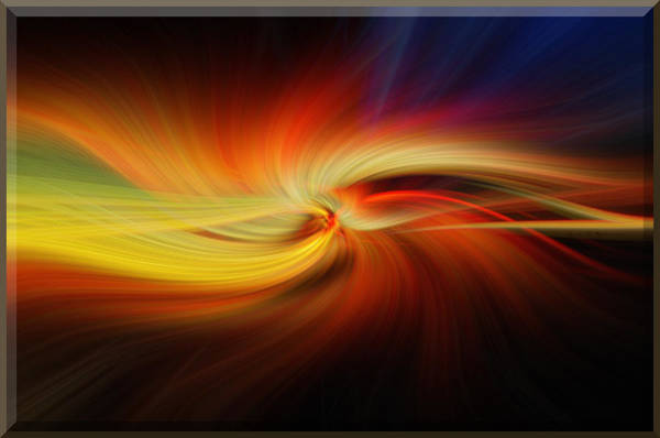 Wallpaper Mixed Media - Sunset Swirl No.2 by Mark Myhaver