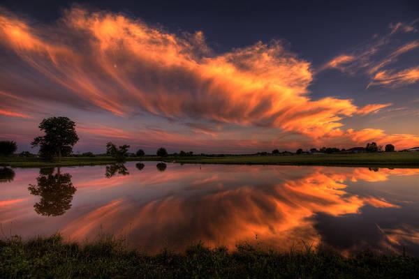 Photograph - Sunset Symmetry by Joe Sparks