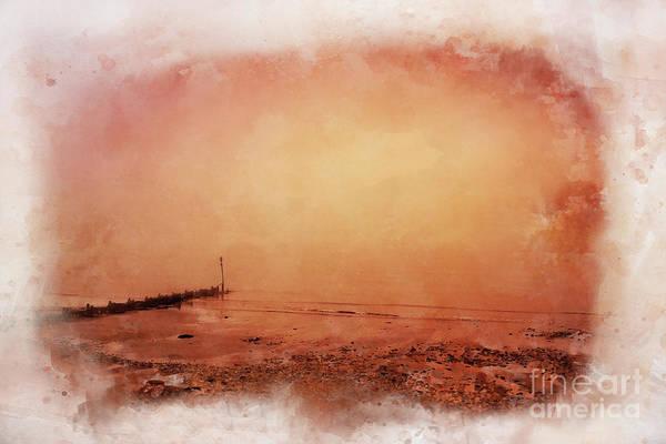 Norfolk Broads Wall Art - Digital Art - Sunset Through The Haar by John Edwards