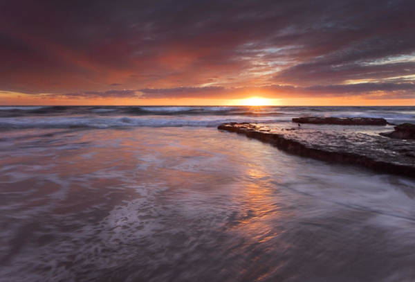 Glorious Wall Art - Photograph - Sunset Tides by Mike  Dawson