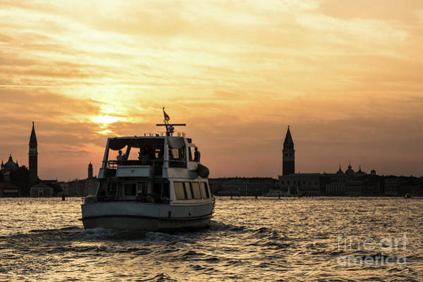 Photograph - Sunset Time In Venice by Didier Marti