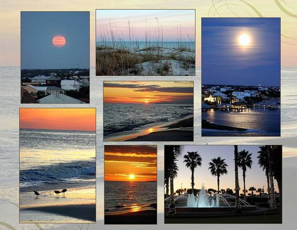 Wall Art - Photograph - Sunset To Moon Rise by Gayle Miller