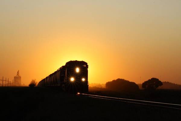 Sunset Express Art Print