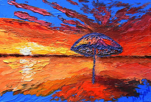 Painting - Sunset Umbrella by Chrys Wilson