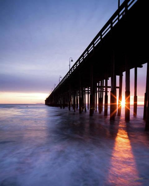 Ventura Photograph - Sunset Under The Pier by Dan Holmes