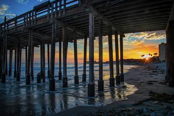 Photograph - Sunset Under The Ventura Pier by Lynn Bauer