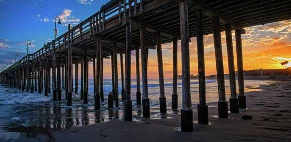 Photograph - Sunset Under The Ventura Pier - The Long View by Lynn Bauer