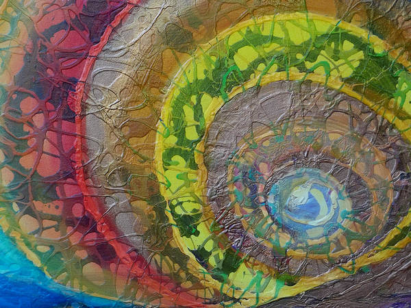 Painting - Sunset Unfurls Detail by Anne Cameron Cutri