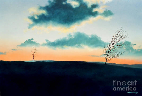 Painting - Sunset Upon Tuscarora Mountain by Christopher Shellhammer