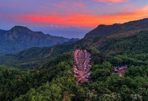 Photograph - Sunset View Of Bena Tribal Village - Flores, Indonesia by Pradeep Raja PRINTS