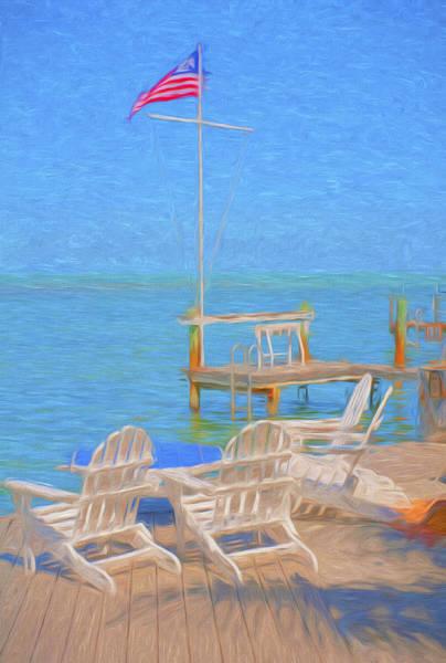 Photograph - Sunset Villas Dock 2 by Ginger Wakem