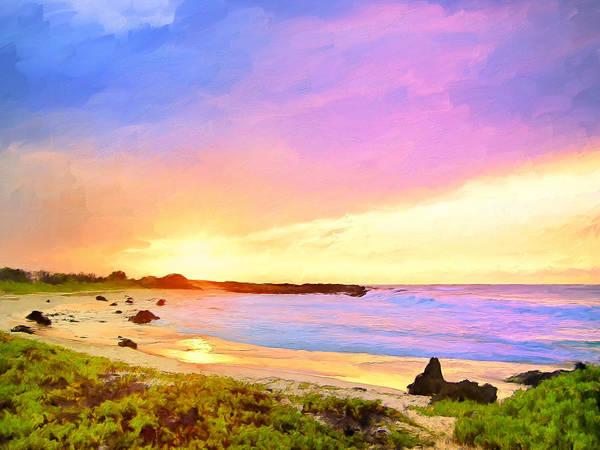 Kona Painting - Sunset Walk by Dominic Piperata
