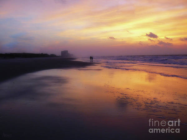 Photograph - Sunset Walk On Myrtle Beach by Jeff Breiman