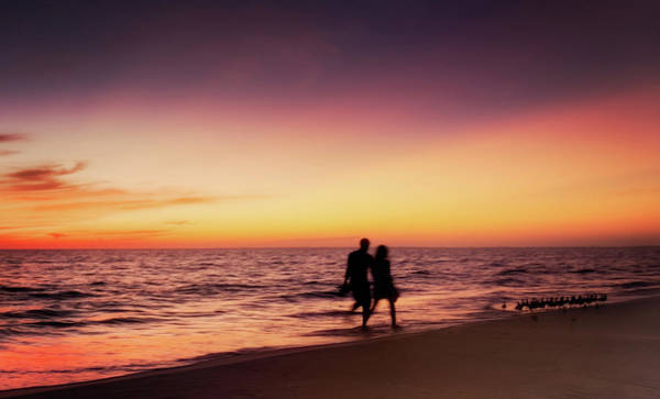 All Together Photograph - Sunset Walk by Vicki Jauron