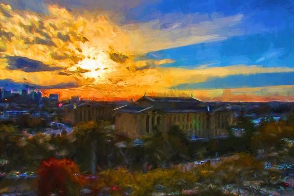 Photograph - Sunset Waning Over Art Museum by Alice Gipson