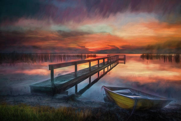 Photograph - Sunset Watercolors After The Rain by Debra and Dave Vanderlaan