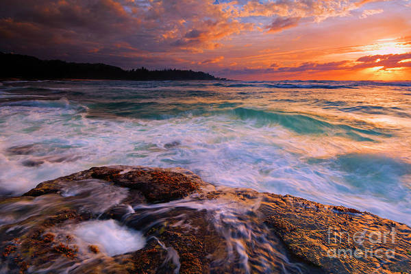 Wall Art - Photograph - Sunset Wave Curl by Mike Dawson