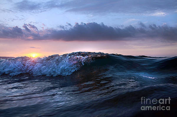 Photograph - Sunset Wave-wards Beach by Steve Somerville
