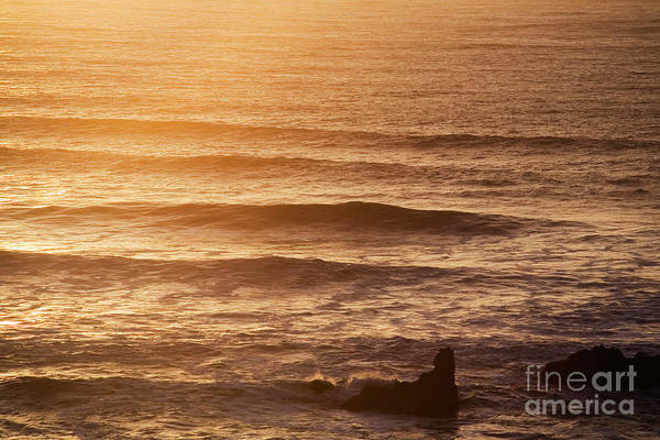 Photograph - Sunset Waves by Charmian Vistaunet