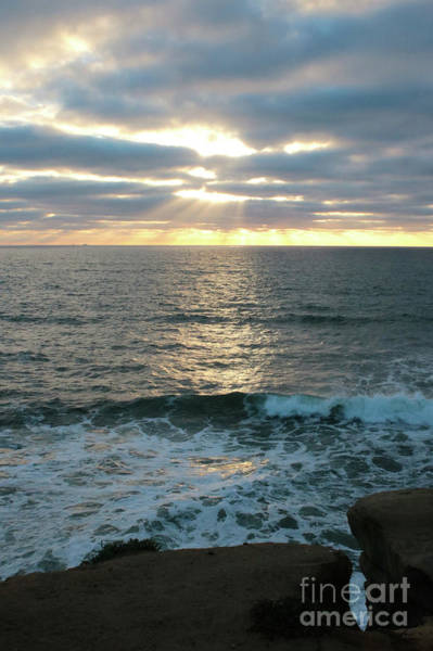 Photograph - Sunset Waves In San Diego by Carol Groenen