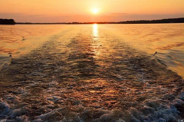Wall Art - Photograph - Sunset Waves by Lisa Wooten