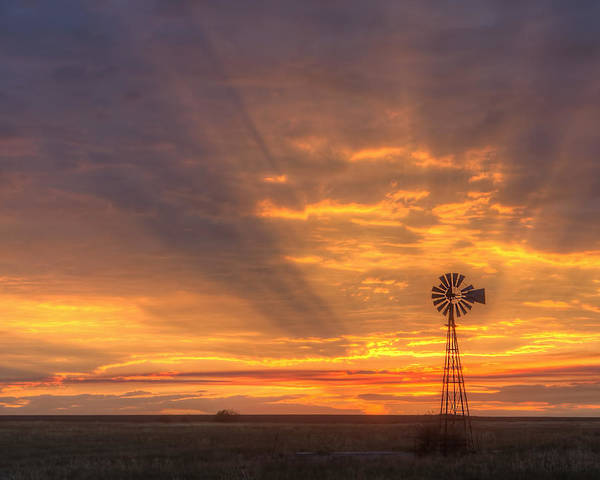Photograph - Sunset Windmill 05 by Rob Graham
