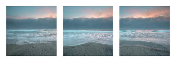 Photograph - Sunset With Marine Layer Triptych by Alexander Kunz
