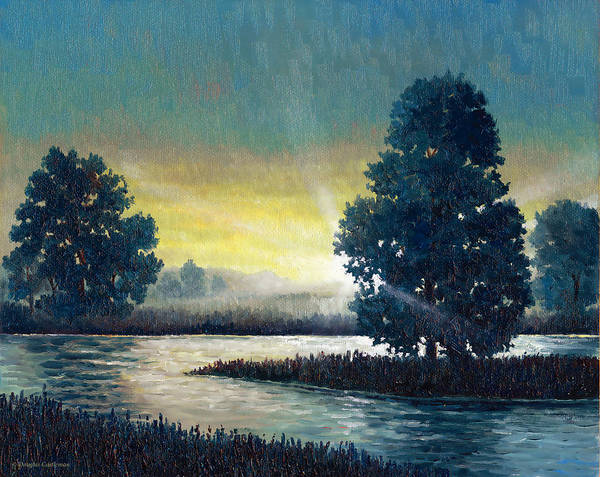Painting - Sunset With Trees by Douglas Castleman