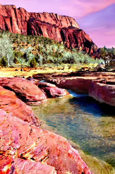Painting - Sunset Zion National Park by Bob and Nadine Johnston