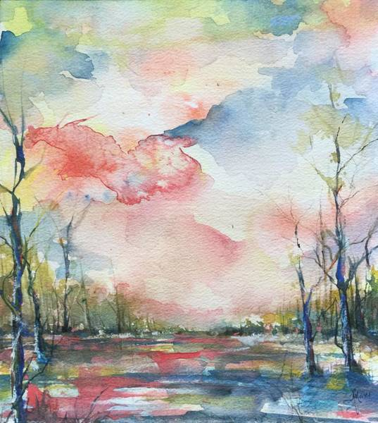 Sunsets Grace On The River Art Print