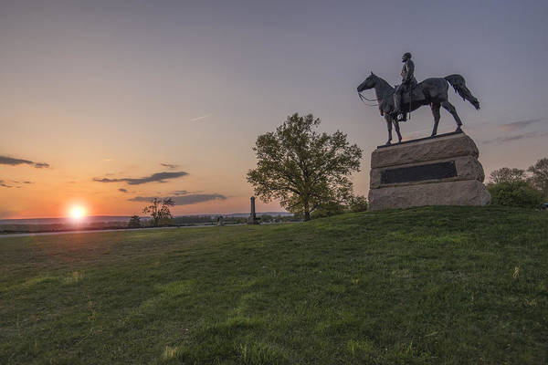 Wall Art - Photograph - Sunsetting As General Meade Watches by Dave Sandt