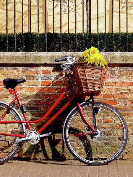 Photograph - Sunshine And Shadows - Bicycle In Cambridge by Gill Billington