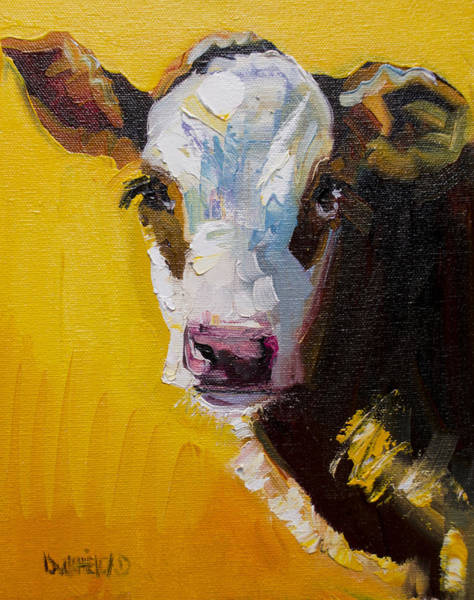 Wall Art - Painting - Sunshine Cow by Diane Whitehead