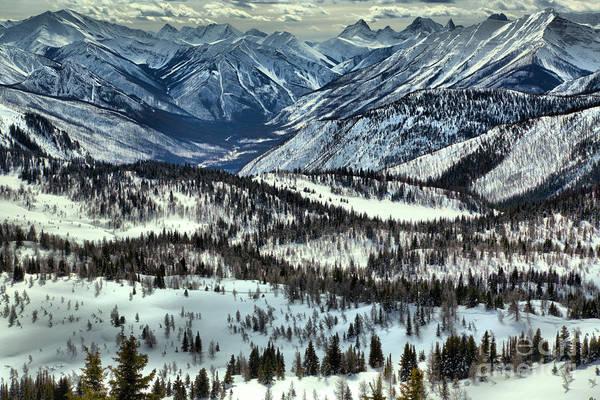 Photograph - Sunshine Meadows Winter Overlook by Adam Jewell