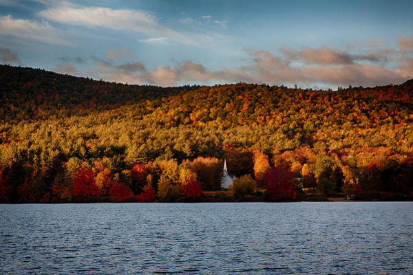 Photograph - Sunshine On The Hills Of Fall Foliage by Jeff Folger