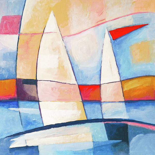 Wall Art - Painting - Sunshine Sailing by Lutz Baar
