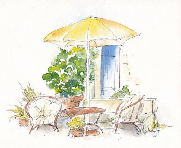 Painting - Sunshine Sit Chat Mas Saint Antoine by Pat Katz