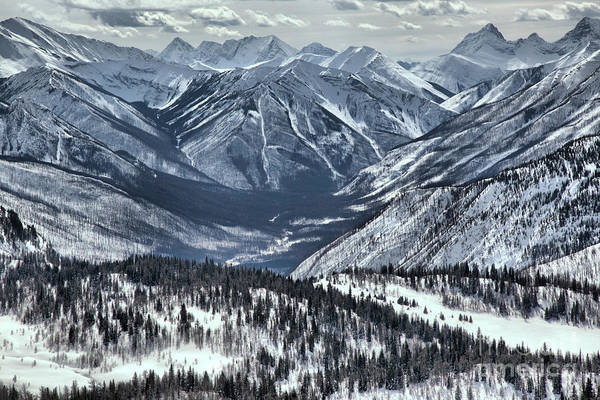 Photograph - Sunshine Valley Endless Snow Covered Peaks by Adam Jewell