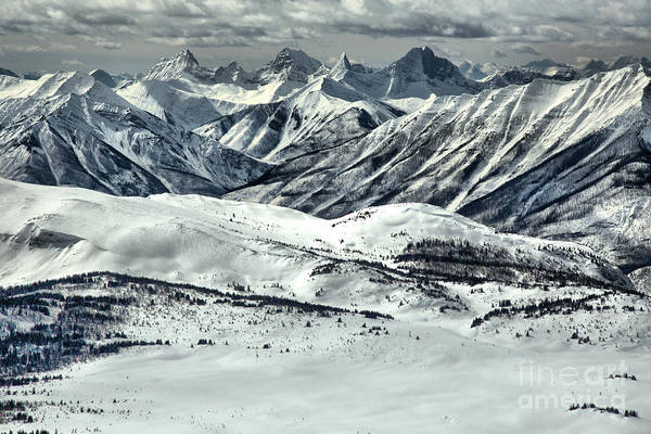 Photograph - Sunshine Village Lookout Mountain Views by Adam Jewell