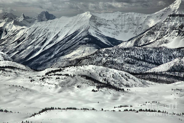 Photograph - Sunshine Village Snowy Peaks And Ridges by Adam Jewell