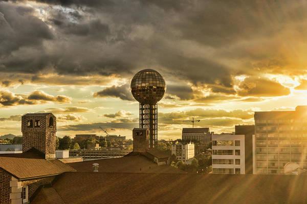 Photograph - Sunsphere Sun Flare by Sharon Popek