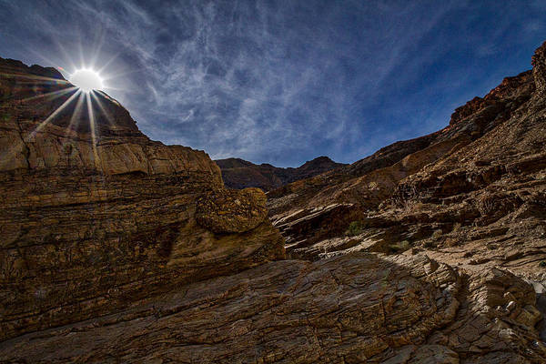 Photograph - Sunstar Over Mosaic Canyon - Death Valley by Stuart Litoff