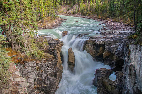 Photograph - Sunwapta Falls 2009 01 by Jim Dollar