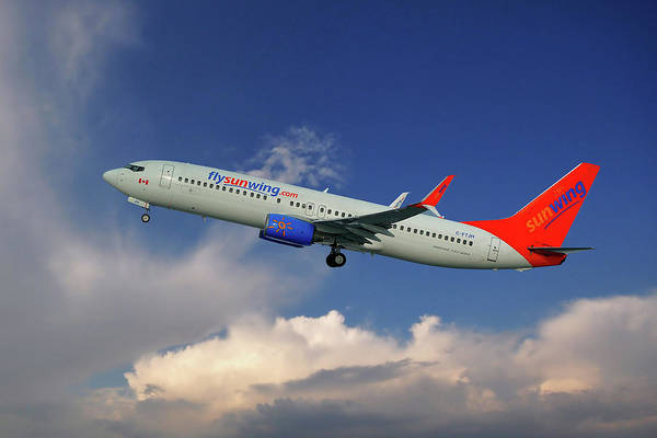 Airline Photograph - Sunwing Airlines Boeing 737-8bk by Smart Aviation