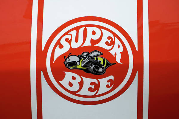 Bee Photograph - Super Bee Emblem by Mike McGlothlen