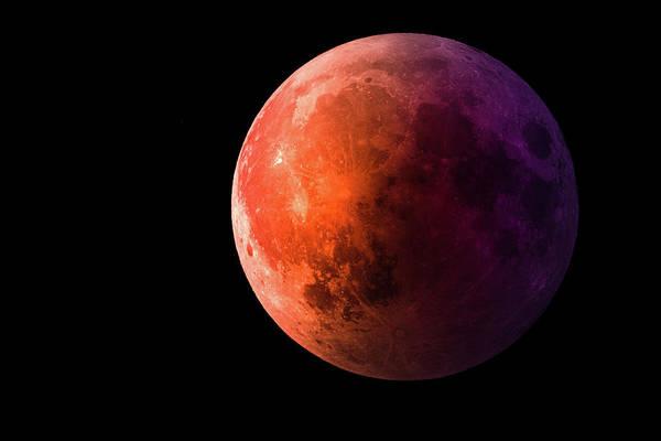 Blood Moon Wall Art - Digital Art - Super Blue Blood Moon by Art Spectrum