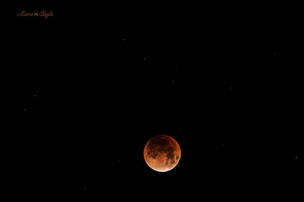 Photograph - Super Blue Blood Moon January 31, 2018 by Karen Slagle