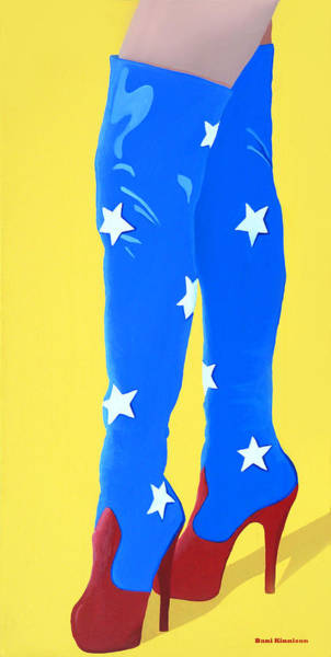 Platform Painting - Super Boots by Little Bunny Sunshine