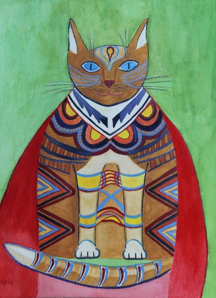 Painting - Super Cat by Vera Smith