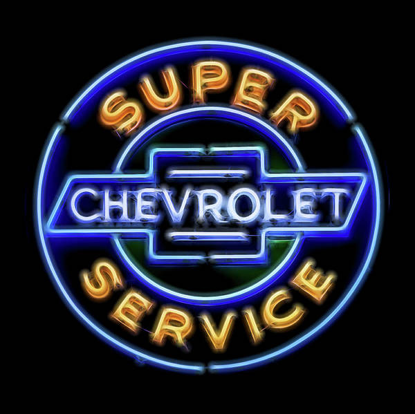 Wall Art - Photograph - Super Chevy Service by Stephen Stookey